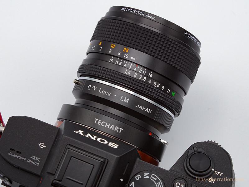 CONTAX Planar50mm F1.4+LM-EA7